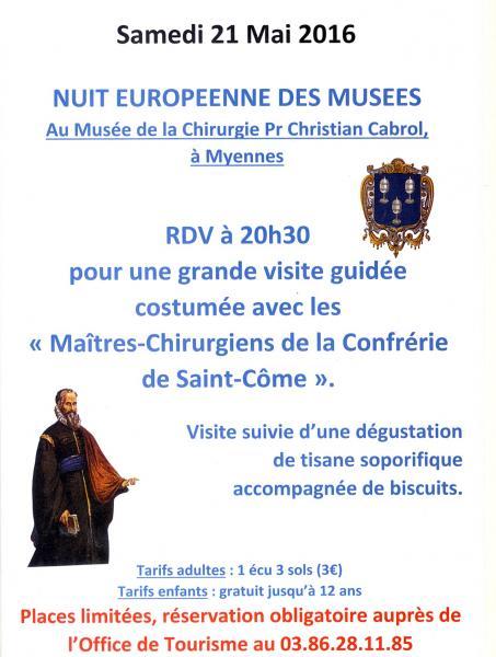 Nuit des musees 21 mai
